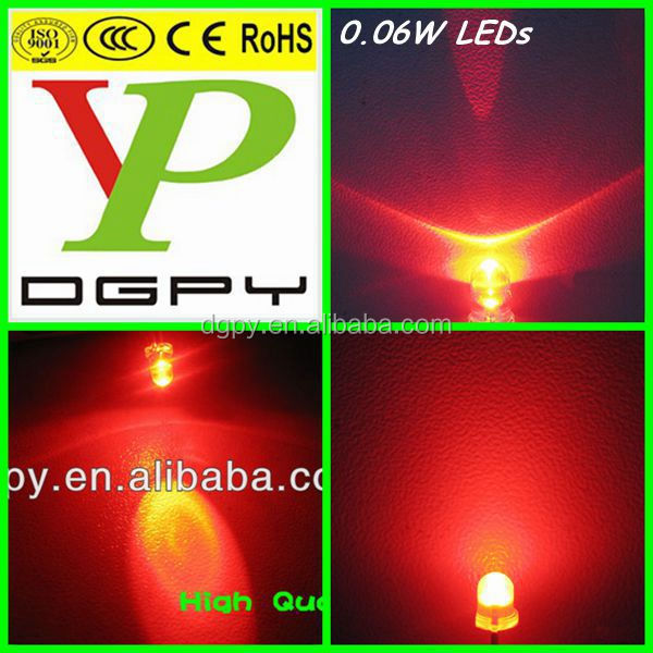 extreme high brightness LED 5mm round for traffic light red yellow green