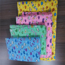 alibaba china supplier printed cotton stretch flannel muslin baby cloth fabrics for bed sheet