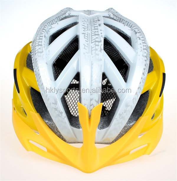 Shengtao Colorful ST700 In-mold PC + EPS PA Strap Bike Racing Safety Helmet with LED Light and Adjucter
