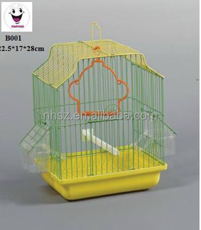 iron material Bird Cage House with tray