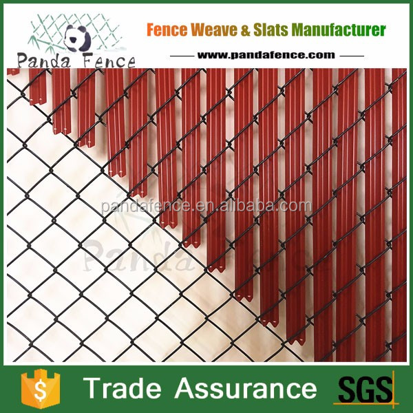 Vertical plastic slat used for chain link fence