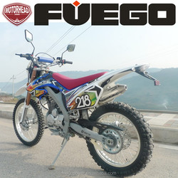 Dirtbike 250cc Motocross Off-Road MX Zongshen Motorcycle High Knobby Wheel Inverted Shocks Mirrors Air Cool Electric Kick Start