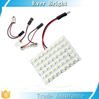 Trade show promotional products 3M sticker 48SMD car led bulbs Dome/Interior/Room reading lights auto led