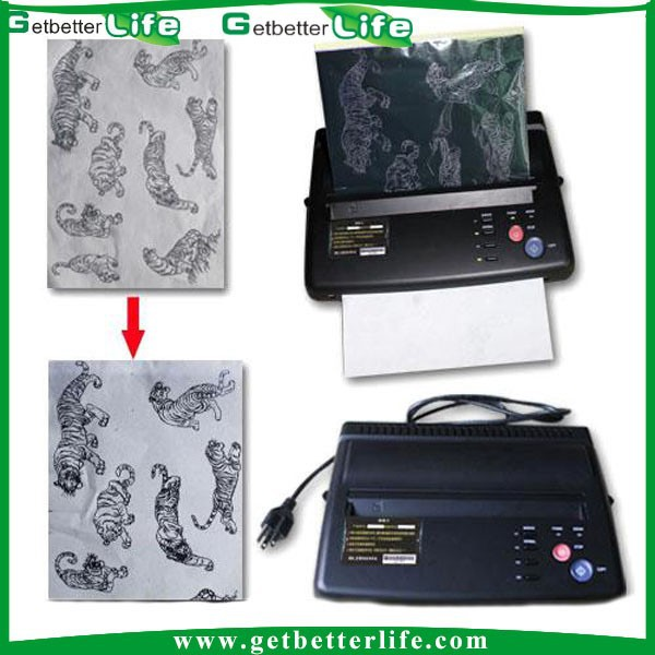 2015 getbetterlife top selling thermal transfer printer for Temporary tattoo printer