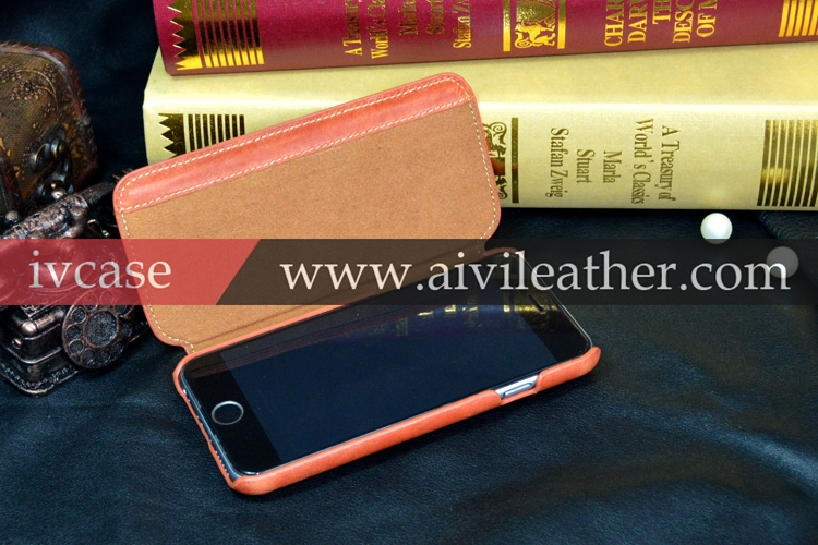 Credit cards slots magnetic closure cell phone cover for iphone 6,for iphone 6 genuine leather folio flip case