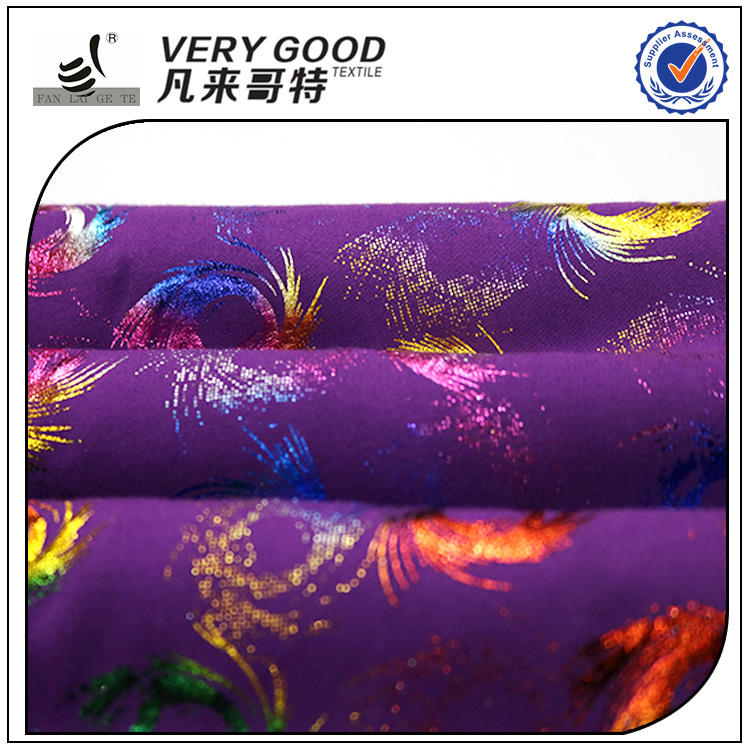 China Wholesale metal rayon printed knitting fabric, pakistani bridal dresses