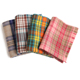 Customized soft warm cashmere wool blend check shawl stole scarf