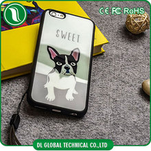 New Cute dog mobile phone case French Bulldog phone case for iphone 6s DLPC155