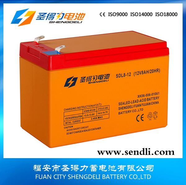 12V8AH sealed lead acid batery/AGM battery/VRLA battery