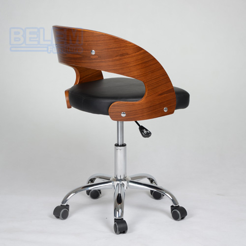 High quality PU chair bent wood office chair new design