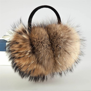 Unisex Winter Fashion Raccoon Fur Ear muff /cute winter ear muffs/Fur Earmuff