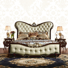 Luxury Upholstered Canopy rococo Bed french provincial bedroom furniture bed