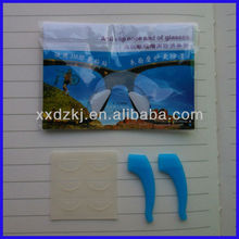 Custom made Good quality silicone rubber nose pads for plastic frames half moon shape