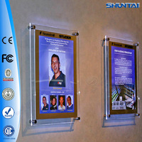 China supplier crystal acrylic diy poster lightbox display
