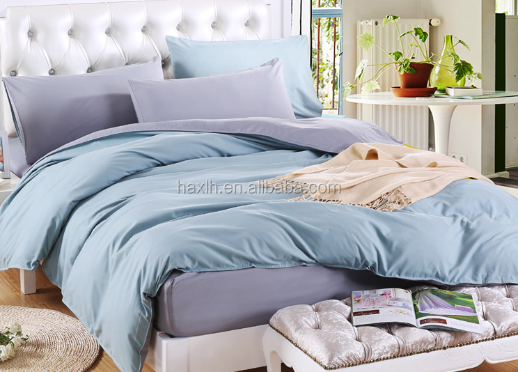 100% cotton solid color/ plain dubai bed sheet set