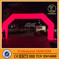 Newest style lighting red inflatable advertising entrance arch