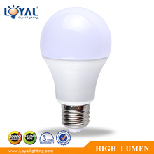 High lumen IP20 Aluminum+Plastic a65 9w led bulb lights e27