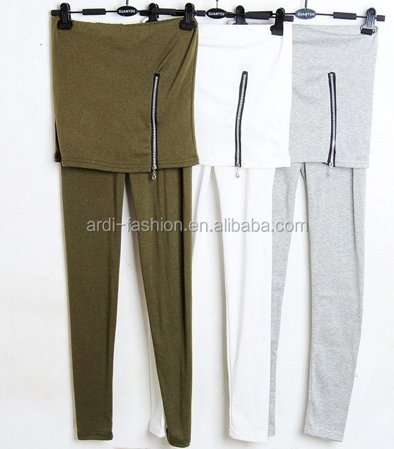 spring fall design zip trims latest skirt leggings manufacturer
