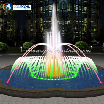 Dia.10m Garden Decoration Water Fountain Led Fountain Design