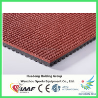 Anti-slip waterproof materials, prefabricated synthetic rubber athletic running track