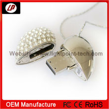 Fashion Jewel Heart USB Flash