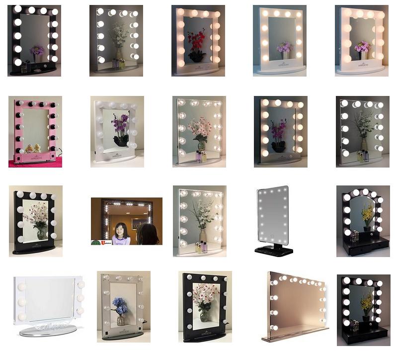 Broadway Lighted Vanity Mirror (gloss White,36.25