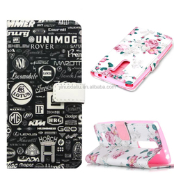 Top selling sublimation wallet flip leather mobile phone case for LG G4