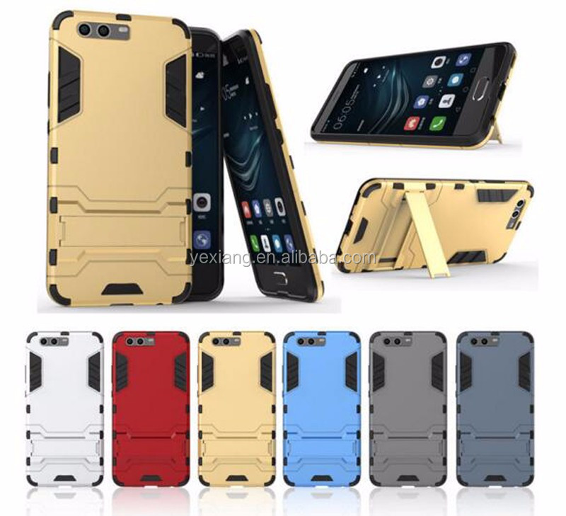 Colorful 2 in 1 PC TPU Hybrid Armor Case For Huawei P10 Plus