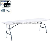 picnic white 8ft plastic rectangle folding in half table/chair(blow mould, HDPE, outdoor,banquet)
