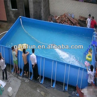 Portable steel frame inflatable swimming pool from China