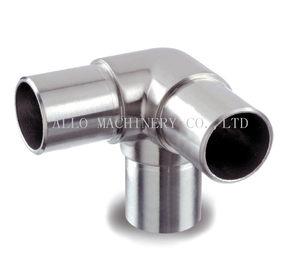 Stainless steel pipe connectors flush angles ways elbow