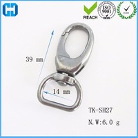 TK Strong Round Metal Dog Lead Snap Hook Trigger Clip 39mm Long