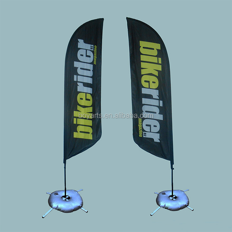 advertising flag feather banner with pole