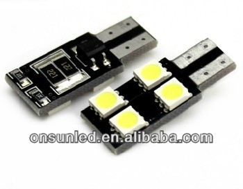 T10 canbus smd 5050 5leds car width daytime running led canbus light decoding the alarm system