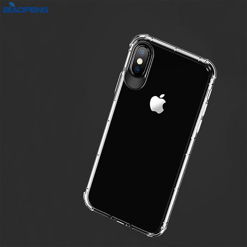 Clear Transparent Smartphone Cases Shockproof Soft Tpu Phone Case Mobile Back Cover For Iphone X Case