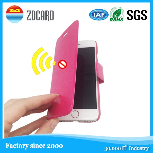 TPU Cell Phone Case RFID Blocking Protection Business Card Holder