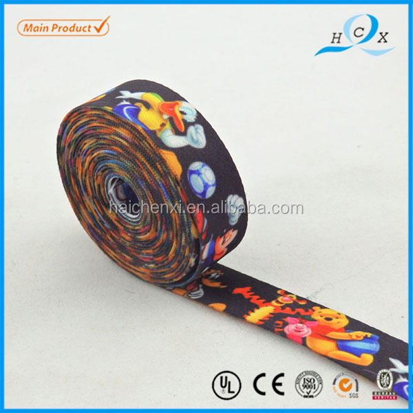 Quality assured best price sublimation printed elastic ribbon