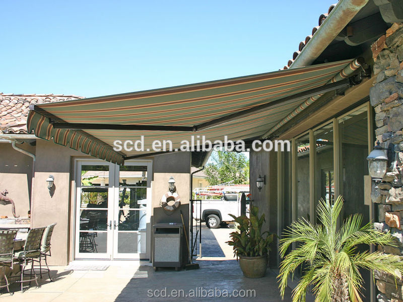 Windproof Sunshade Cheap Used Retractable Awning with Polyester Fabric