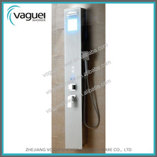 Comfortable Lifestyle Touch Screen Led ABS Tempered Glass Shower Wall Panels