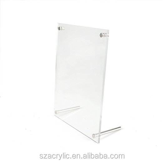 A4 acrylic picture frame L shape photo frame display frame