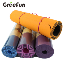 Non Slip Double Sided Yoga Mat Fitness Padding , Durable Anti-Tear Nontoxic Exercise Workout Mat for Pilates Yoga Fitness