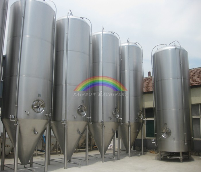 2000L Dimple cooling jackets beer conical fermenter, beer fermentation tank