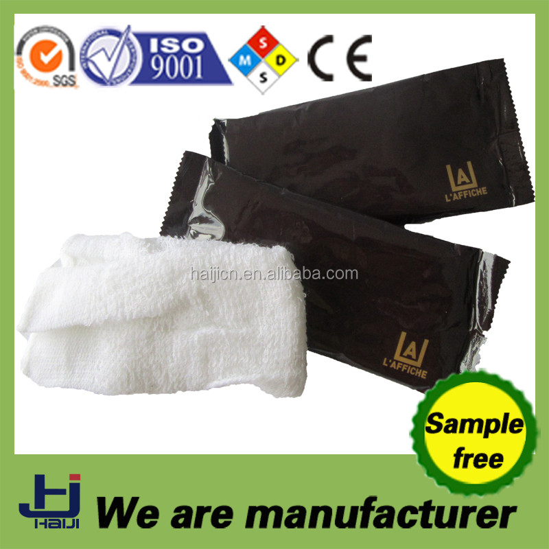 China OEM manufacturer refreshing cotton cool wet towel for cleaning