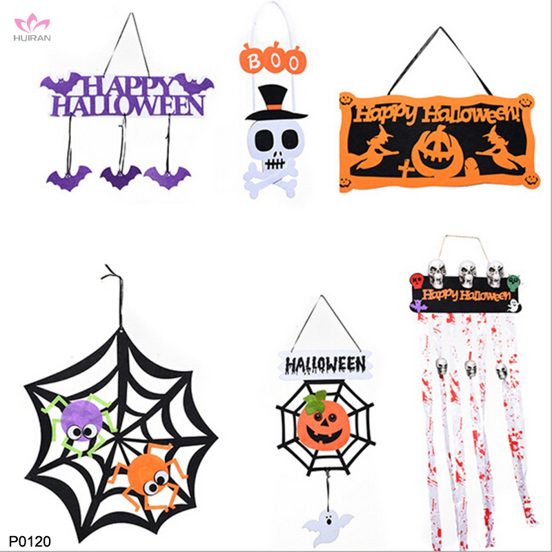 Happy Halloween Sign Boo Non-woven Wall Hanging Door Hanging Halloween Decoration