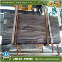 Polished dark color green bamboo marble slab