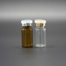 wholesale 10ml clear amber glass pharmaceutical vials bottle with rubber stopper and flip off caps