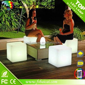 Garden led seat light waterproof led light cube