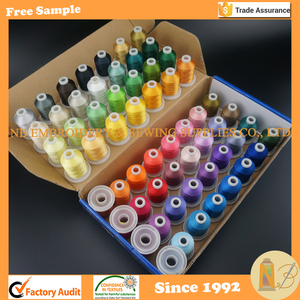 61 Brother Colors 1000M (1100Y) Each Polyester Embroidery Machine Thread for Brother Machine