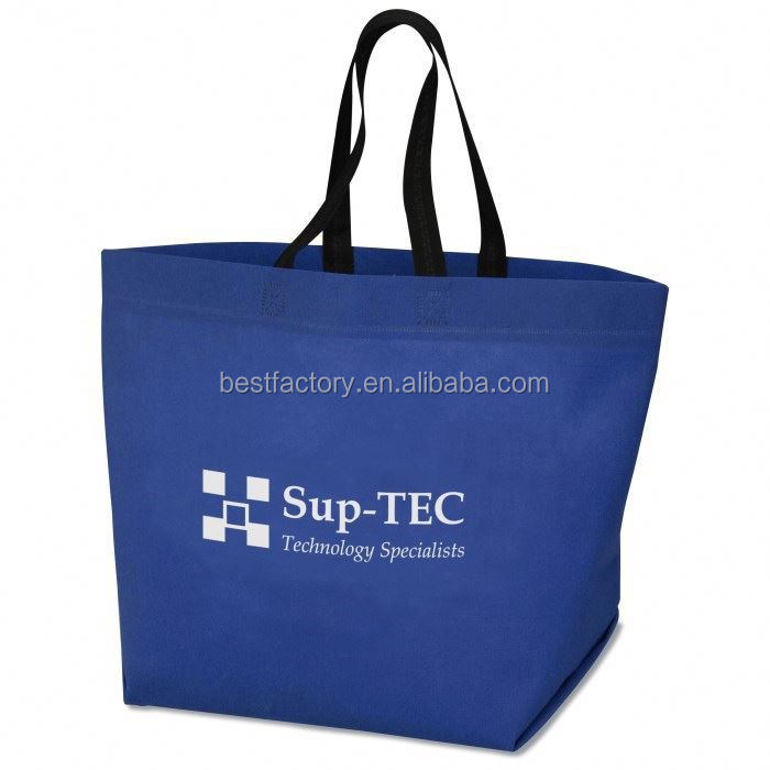 Cotton Foldable Bag Foldable Non Woven Shopping Bag With Zip Pocket