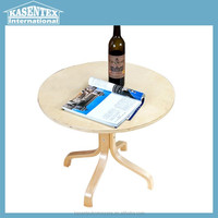Plywood round tea table end table